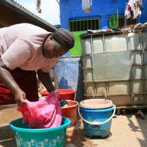 Alice Wambui in Dandora, Nairobi