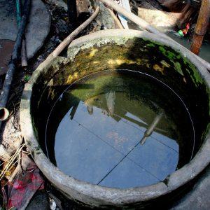 Unhygienic water storage in Dhaka