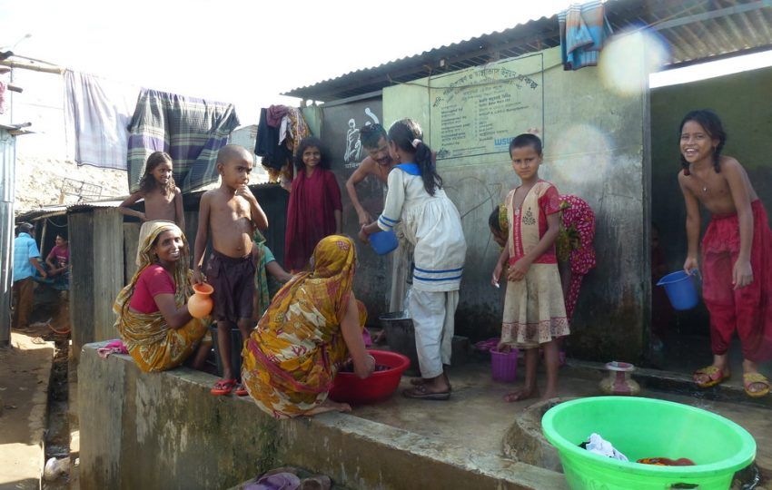 Shared sanitation in Dhaka