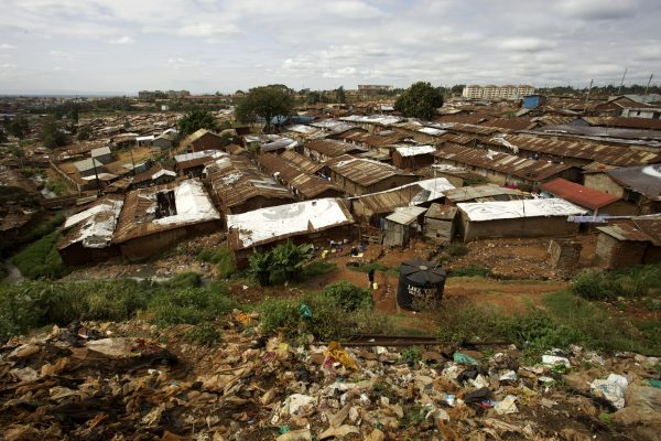 Arial view of Kibera, Nairobi