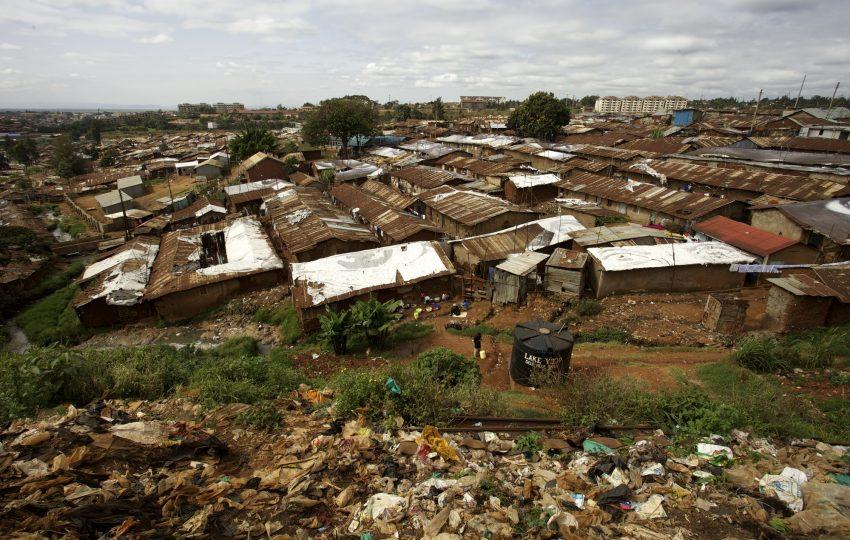 Arial view of Kibera, Nairobi