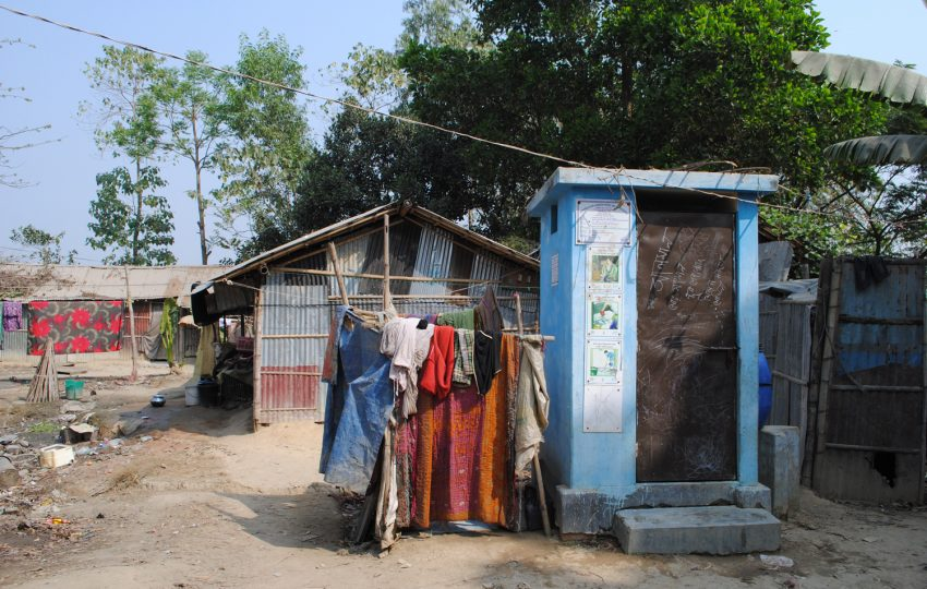 Sanitation block in a low-income community in Chittagong