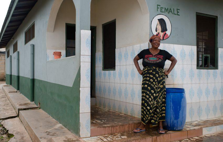 A public toilet in Kumasi, Ghana