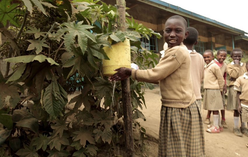 Handwashing in school in Naivasha