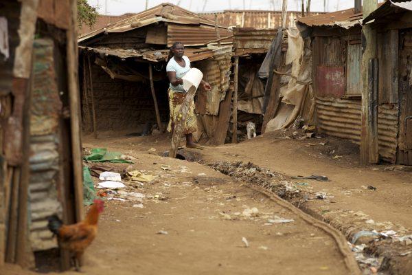 Poor sanitation conditions in Nairobi, Kenya