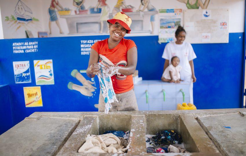 Laundry block in Antananarivo, Madagascar