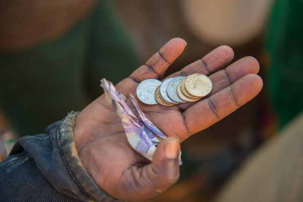Paying for services in Lusaka, Zambia