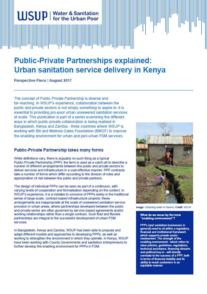 Public-Private Partnerships explained Kenya report cover
