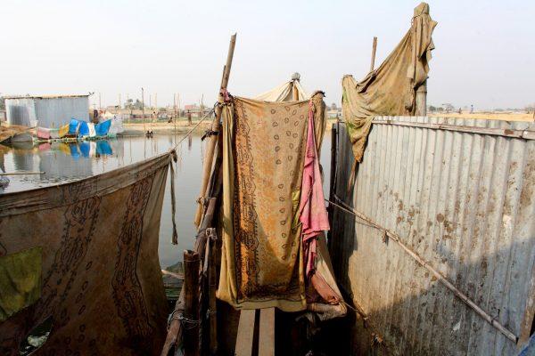 Poor sanitary conditions in Dhaka, Bangladesh