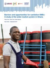 Barriers and opportunities for sanitation SMEs report cover