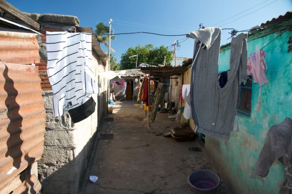 Street view of a peri-urban area in Maputo, Mozambique