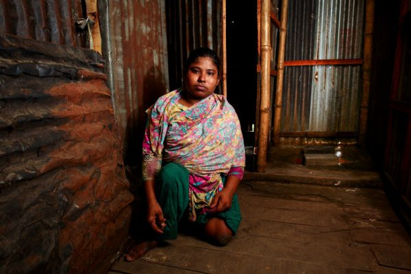 Durpata, a low-income urban resident in Dhaka, Bangladesh