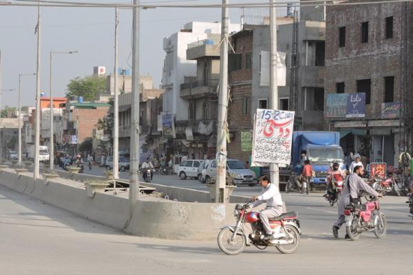 Urban scene in Lahore