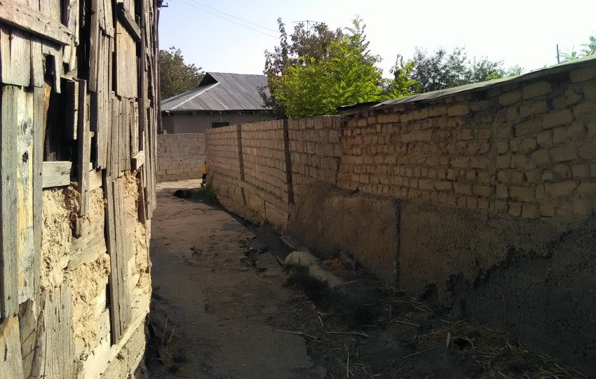 Low-income community in Tajikistan