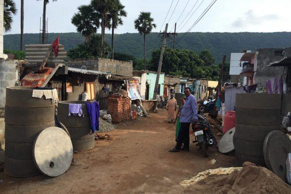 Building toilets in Visakhapatnam