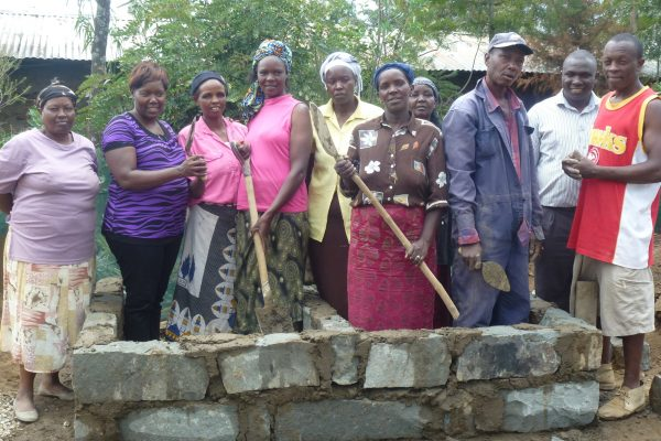 Women in Karagita, Naivasha working in construction