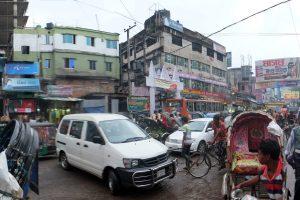 Street scene in Chittagong, Bangladesh