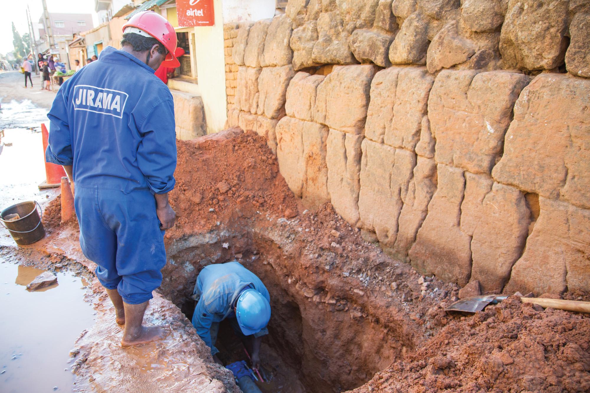 Leak reduction in Antananarivo