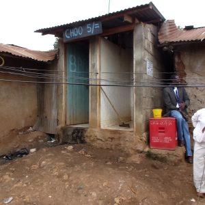 Sewered communal toilets in Kenya