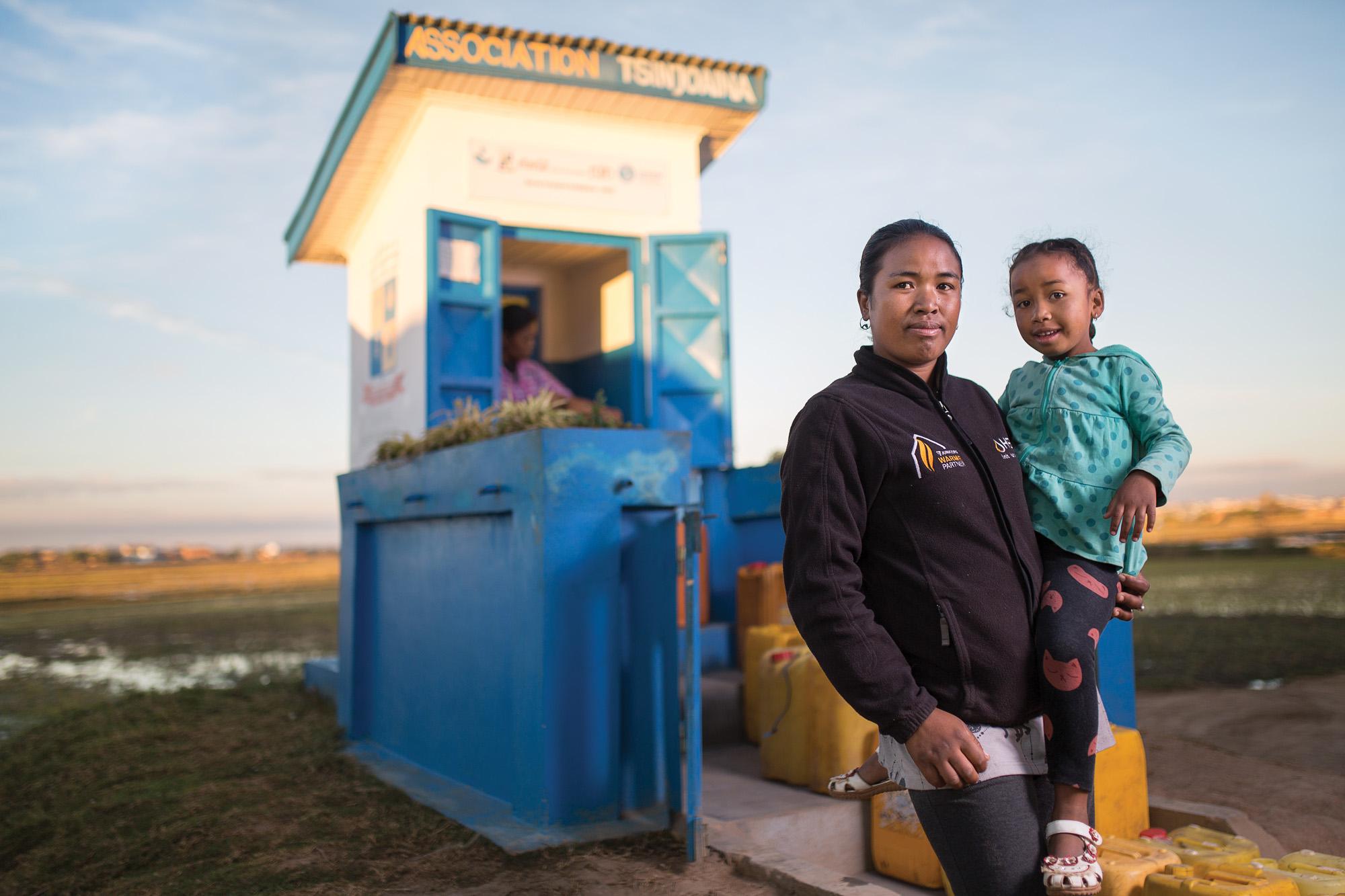 Water kiosk customer Antananarivo