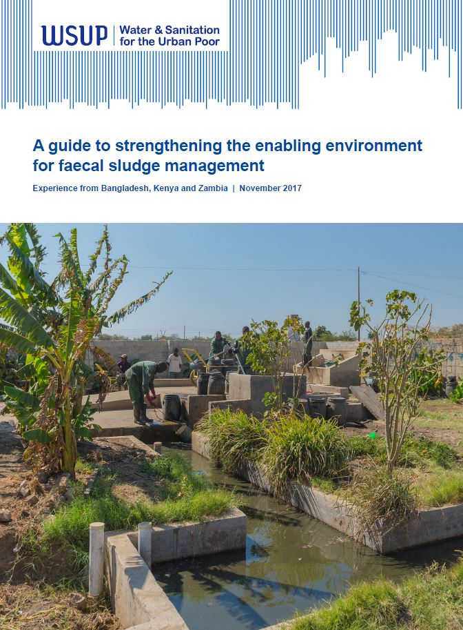 A guide to strengthening the enabling environment for faecal sludge management