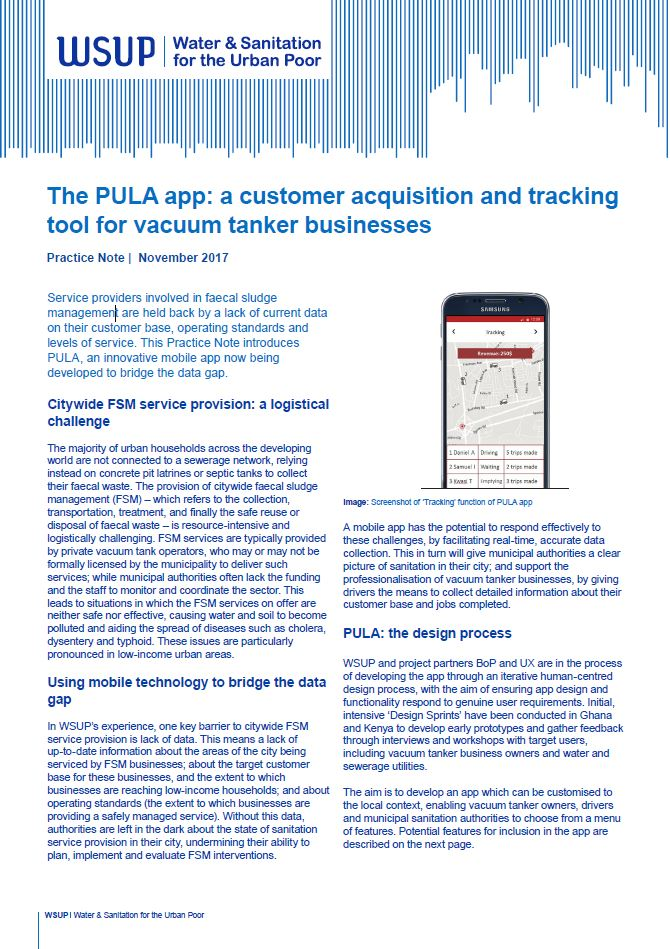 PULA app Practice Note front cover