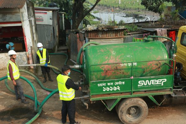 SWEEP vacuum tanker in Dhaka, Bangladesh