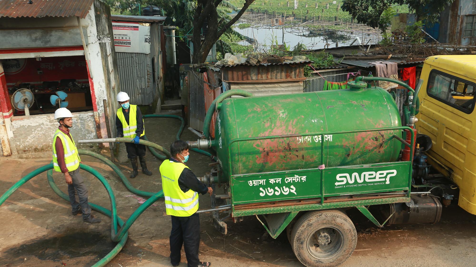 SWEEP vacuum tanker in Dhaka, Bangladesh