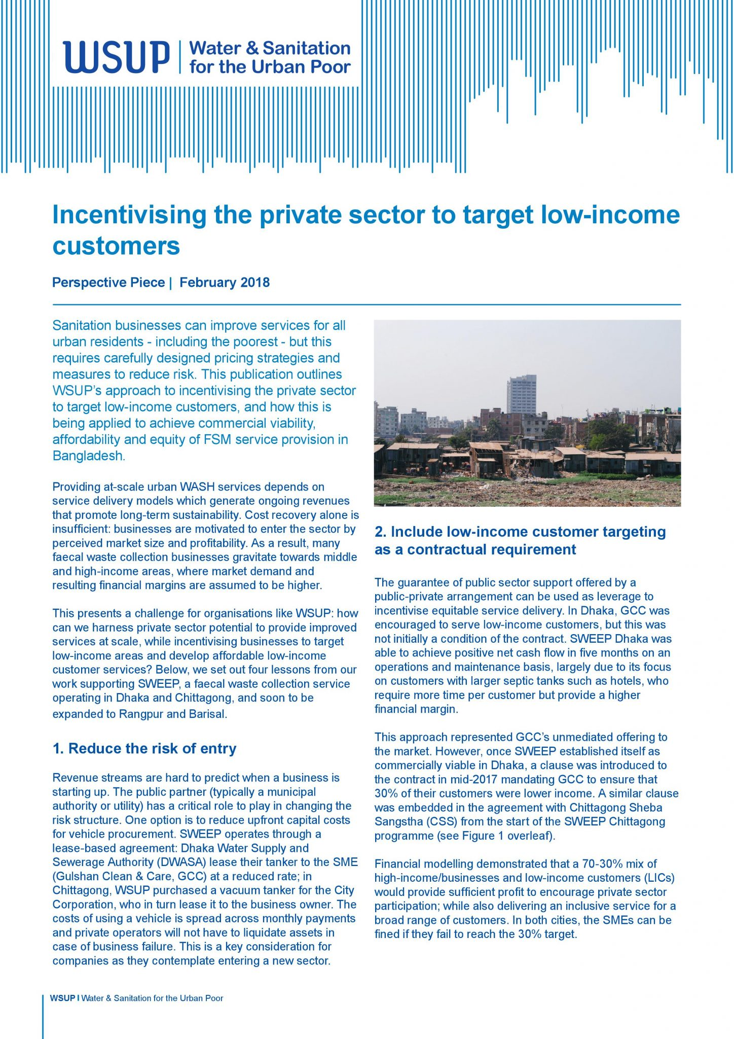 Incentivising the private sector to target low-income customers