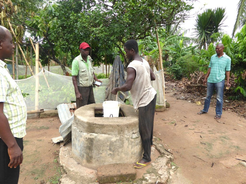 Yaw's son fetches water from the well