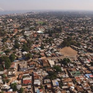 Aerial footage from Maputo