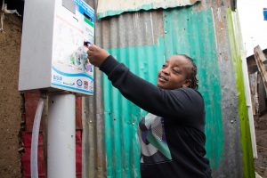 Accessing water in Korogocho, Nairobi, Kenya