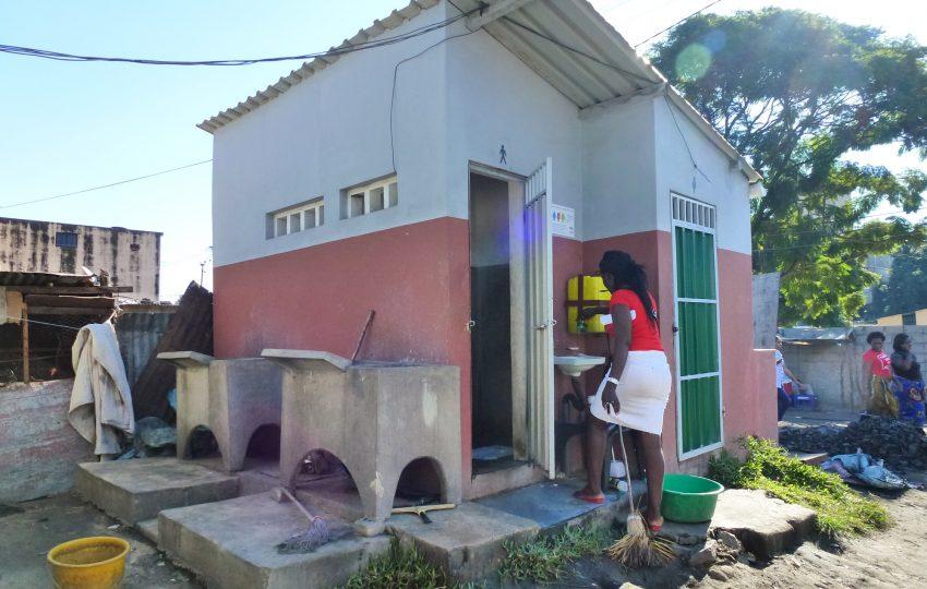 Communal sanitation block