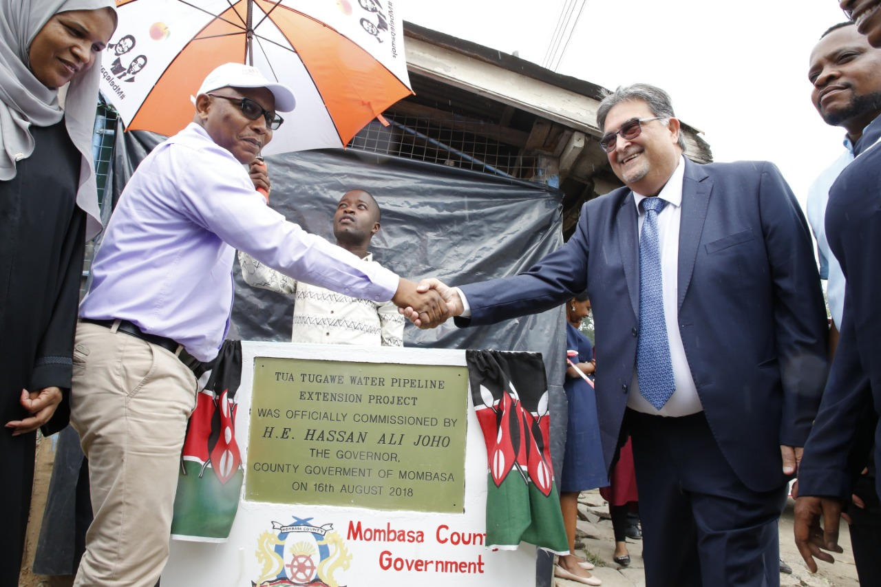 Inauguration of the water network extension, Mombasa