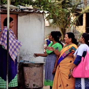 Community engagement in one of Visakhapatnam low-income areas