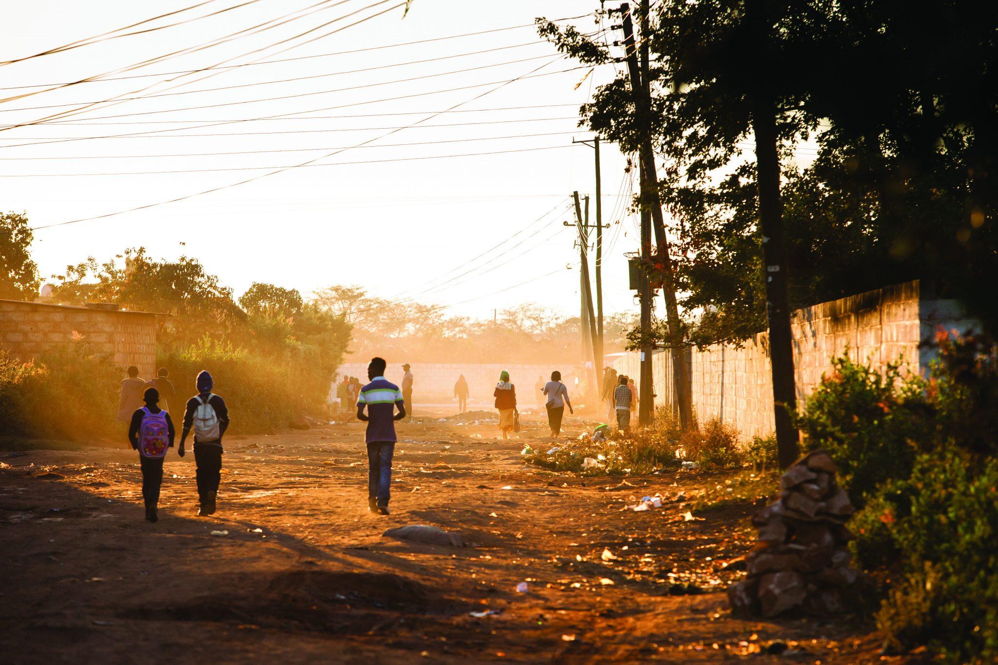Street scene in Lusaka, Zambia