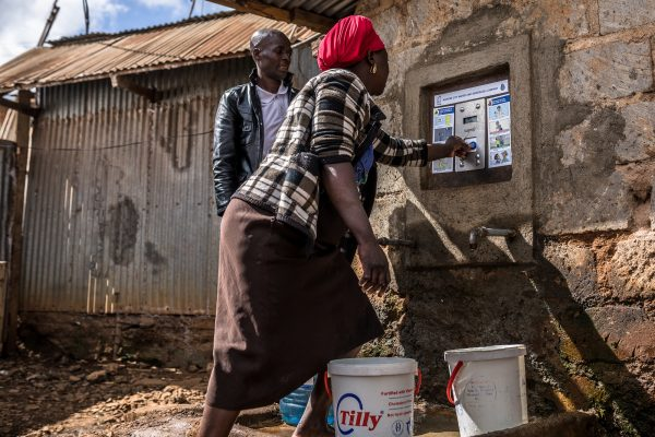 Customer accessing water in Nairobi