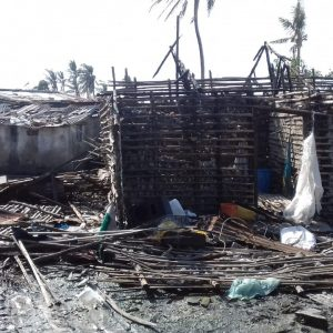 Destroyed property in Beira, Mozambique