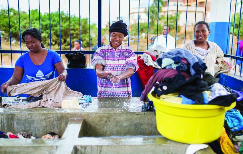Laundry block in Antananarivo