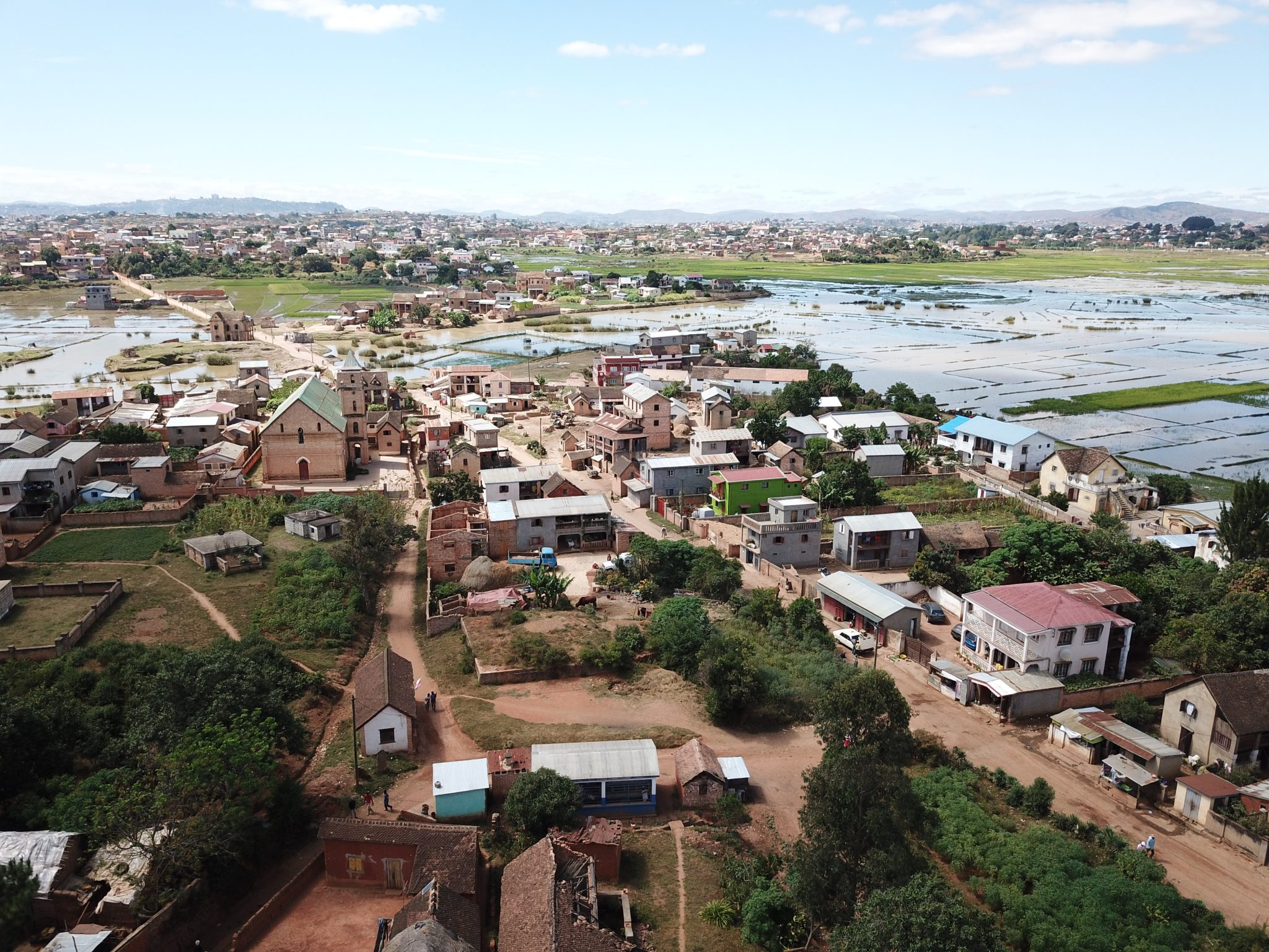 Aerial footage, Antananarivo