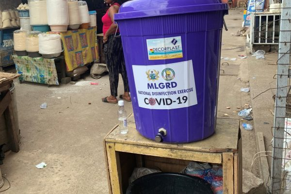 Handwashing station in Accra, Ghana