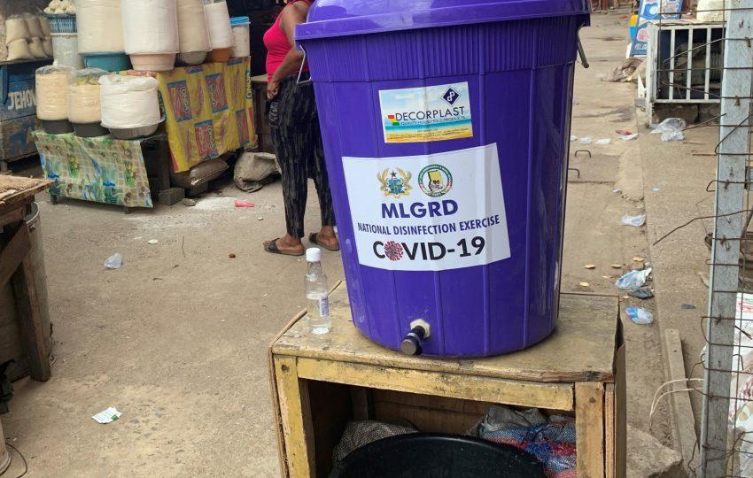 Handwashing station in Accra, Ghana