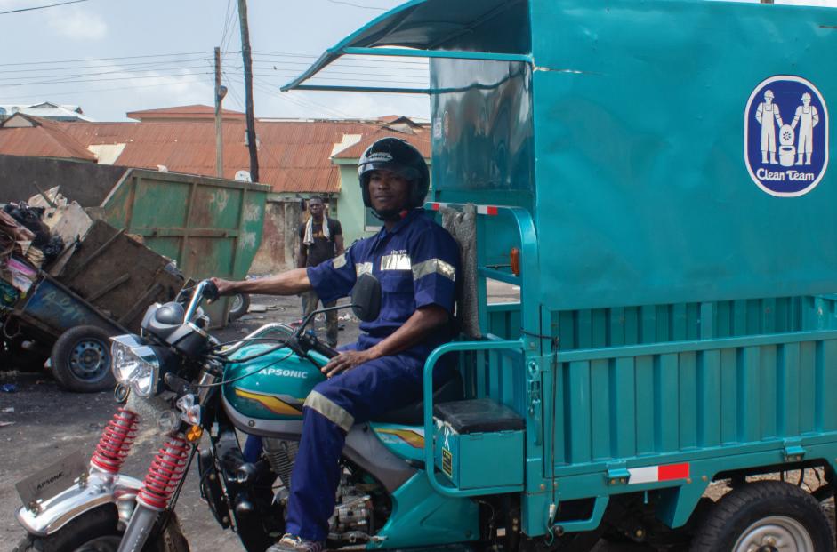 Ghana Clean Team worker