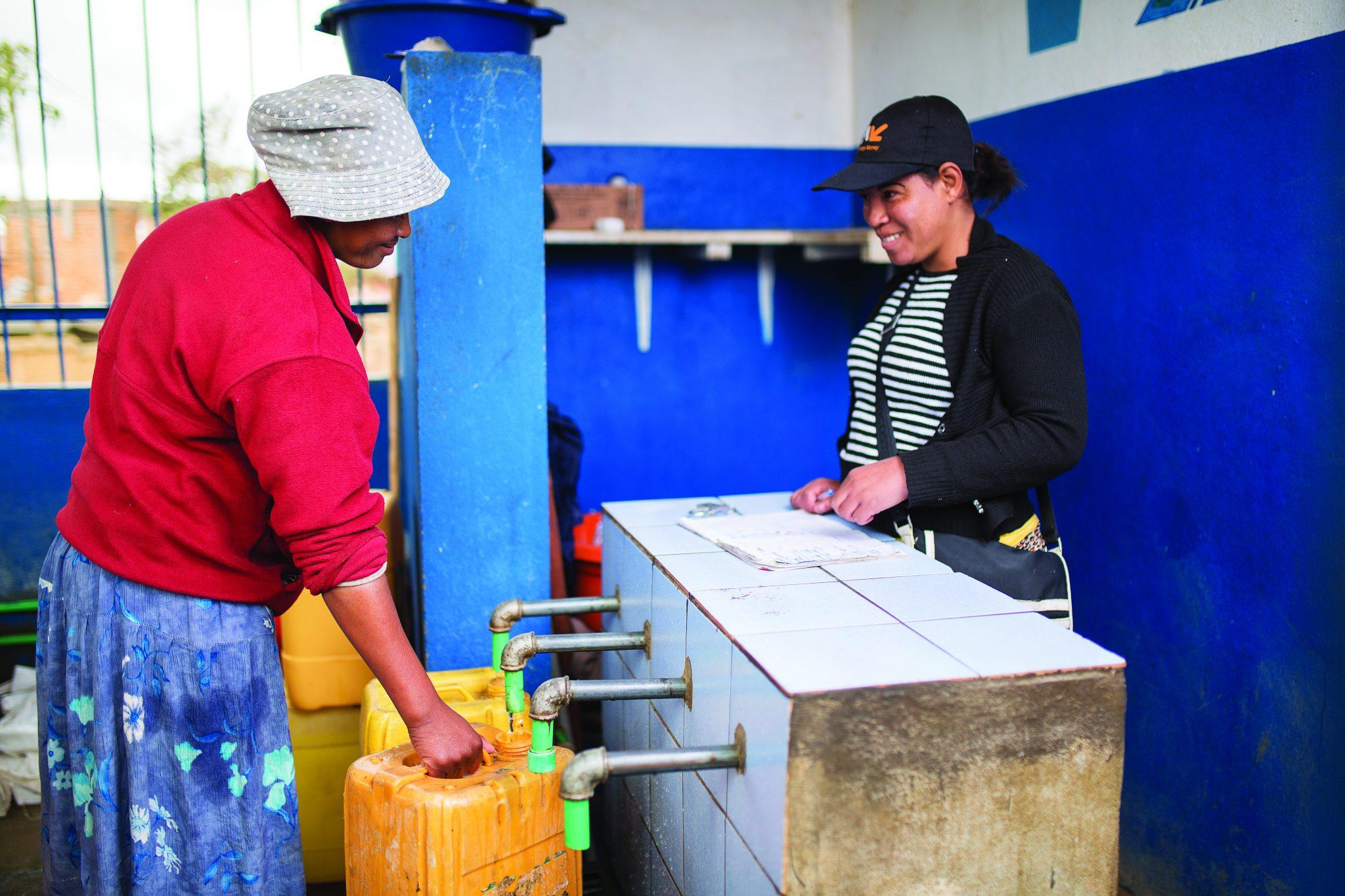 Laundry block user in Antananrivo