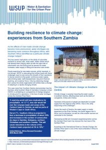 Building resilience to climate change experiences from Southern Zambia