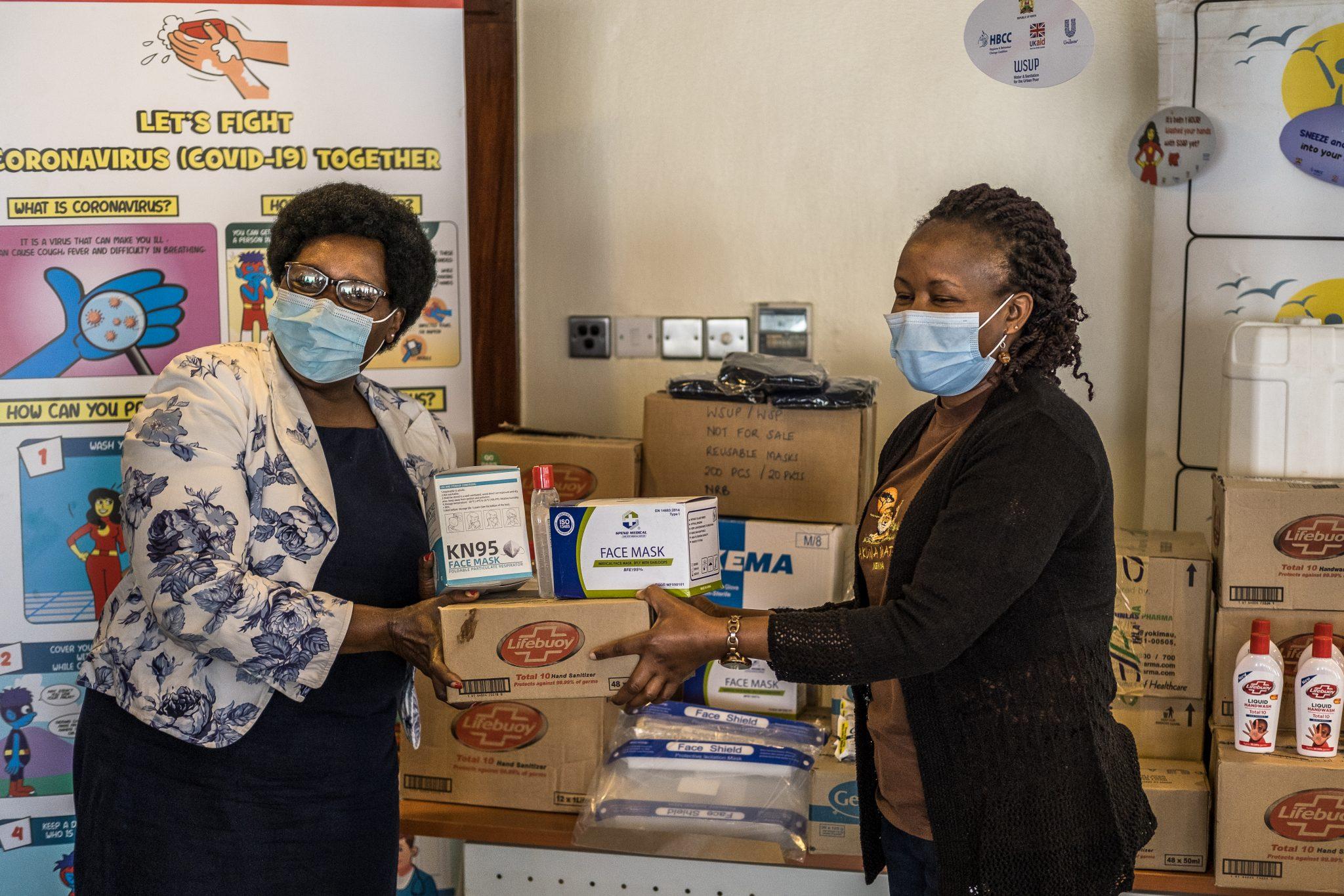 Handover of Unilever donations to APDK