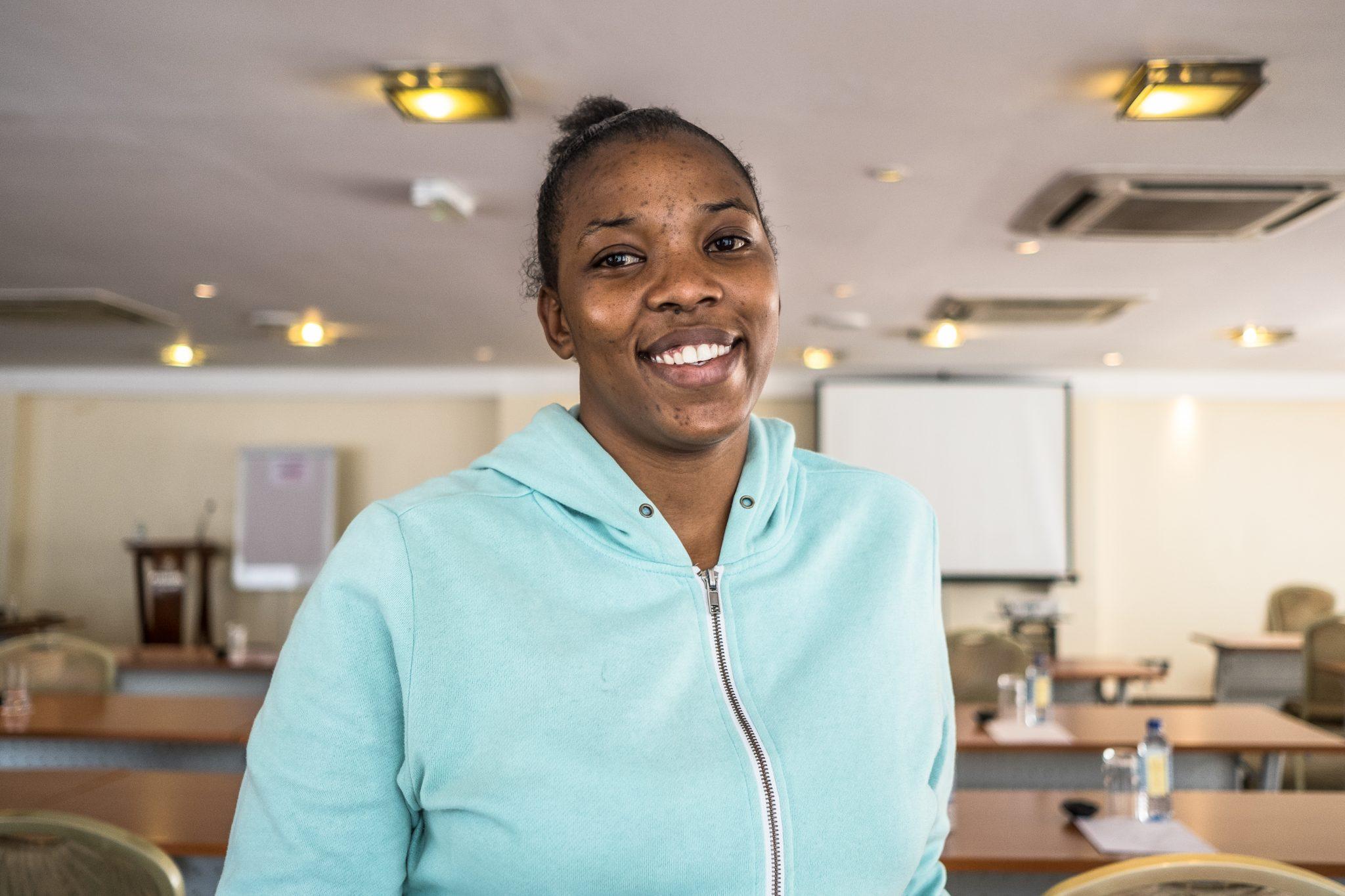 Belinda Adhiambo representative from APDK