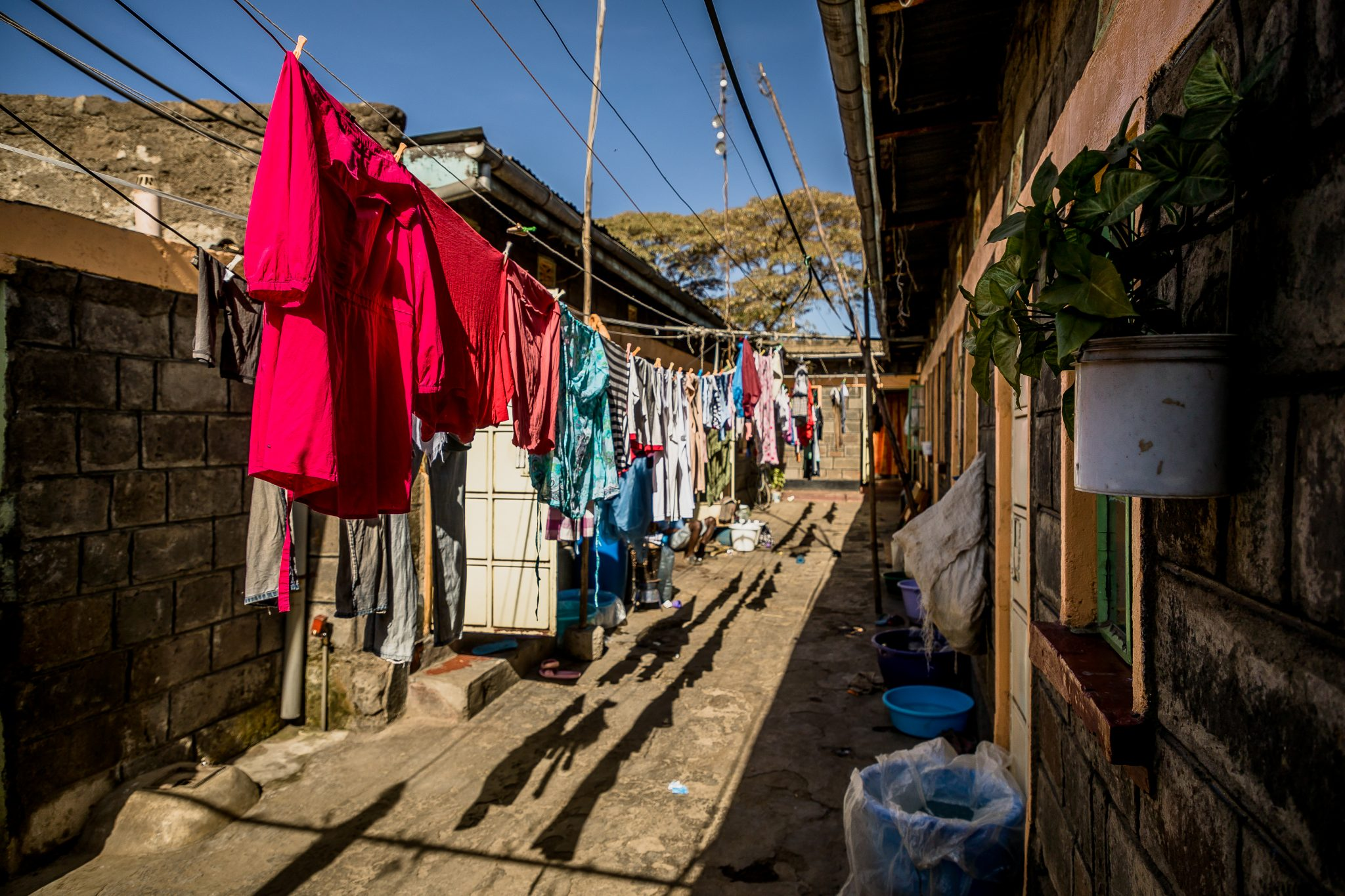 Clothes hanging to dry_ Githima