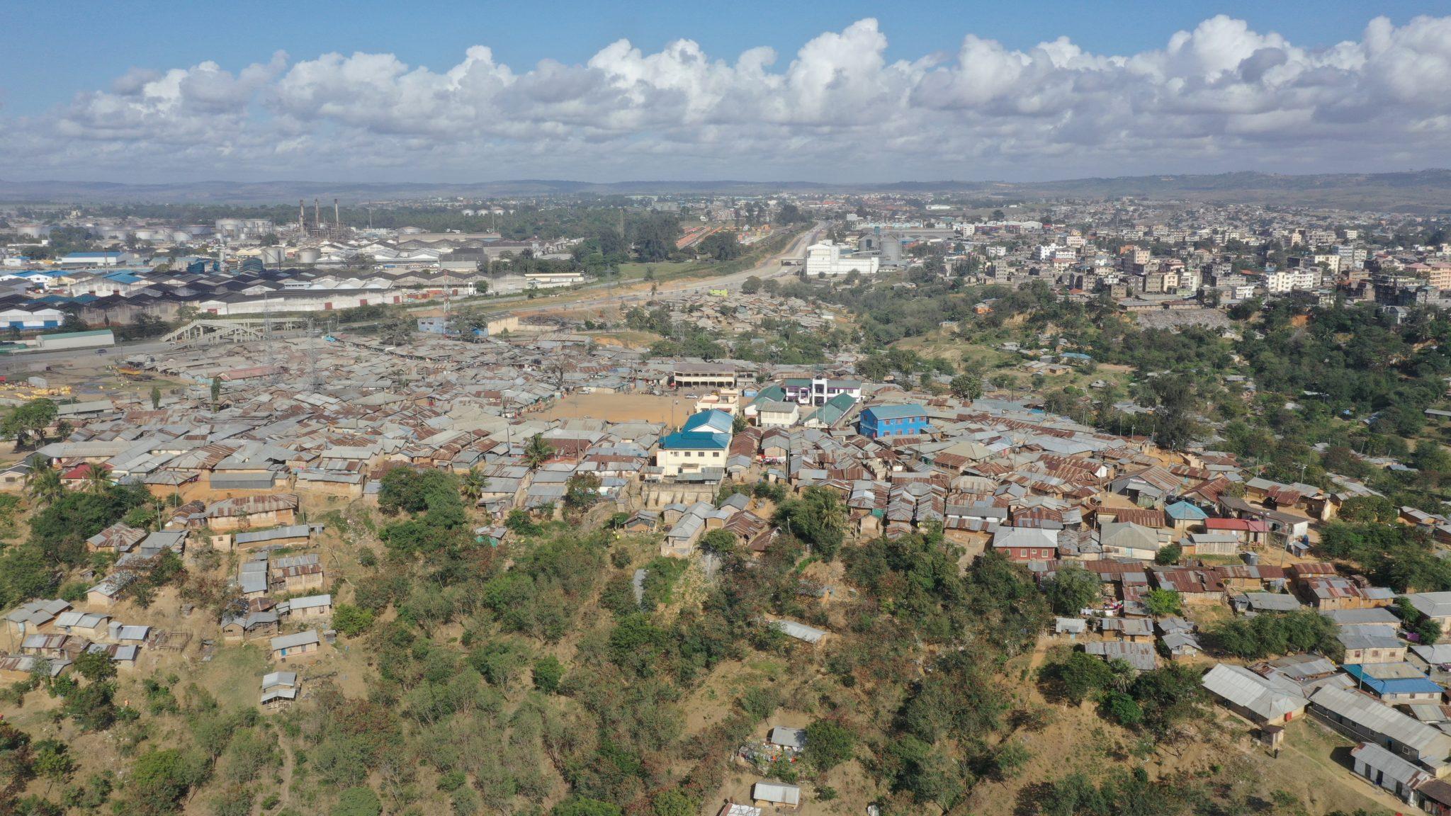 The informal settlement of Bangladesh, in Mombasa, Kenya
